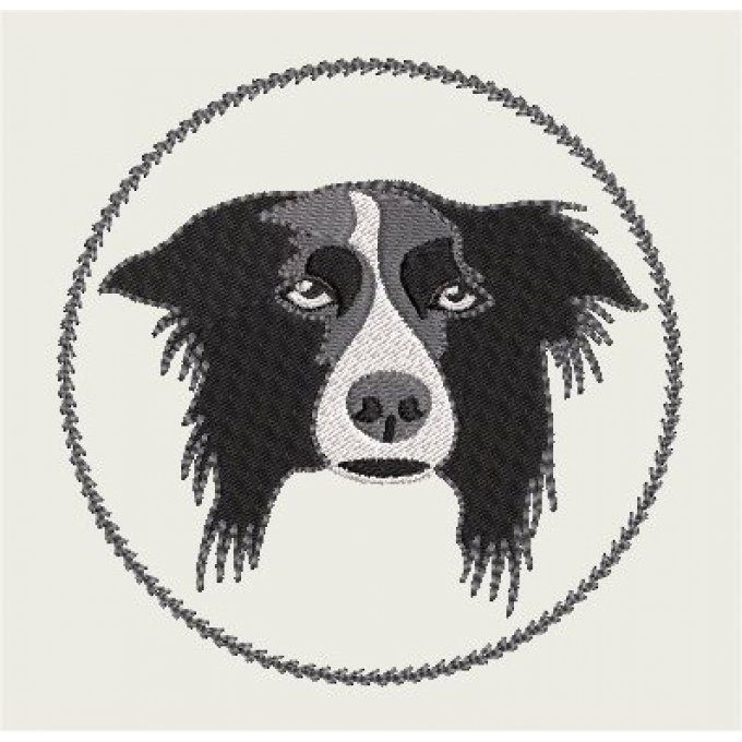 Motif Border collie
