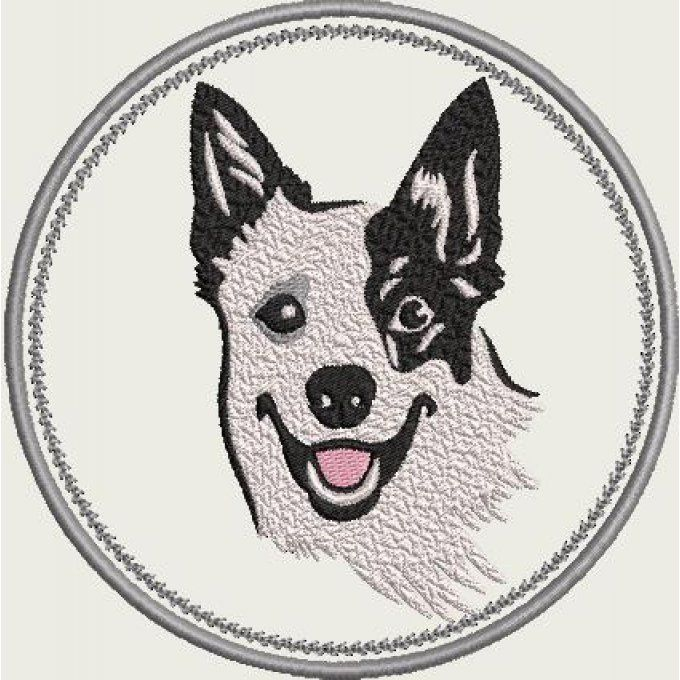 Motif Border collie  appliqué