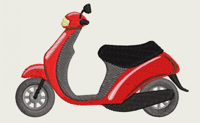 Motif broderie machine Scooter